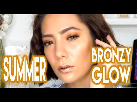 🌞 🏖 SUMMER BRONZY GLOW MAKEUP TUTORIAL feat. Meet the World | oeuvretrends
