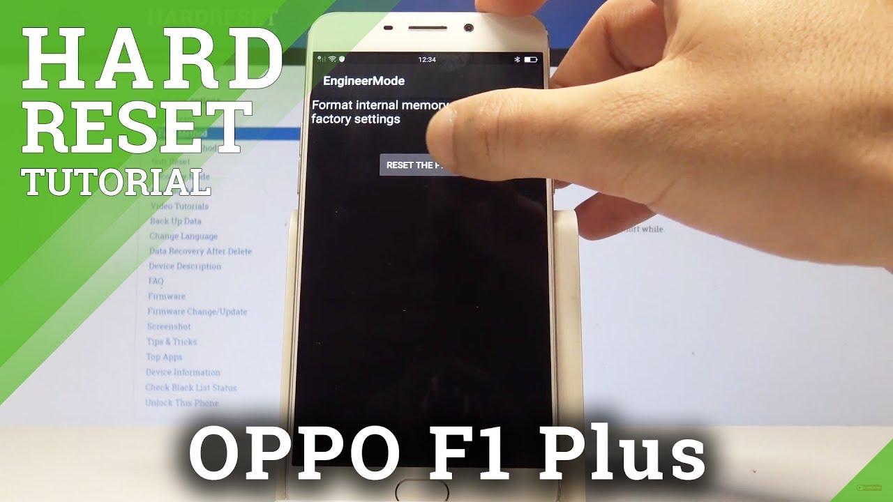 Hard Reset OPPO F1 Plus - HardReset info