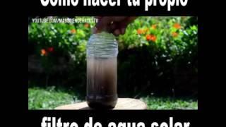 Como hacer un filtro solar de agua