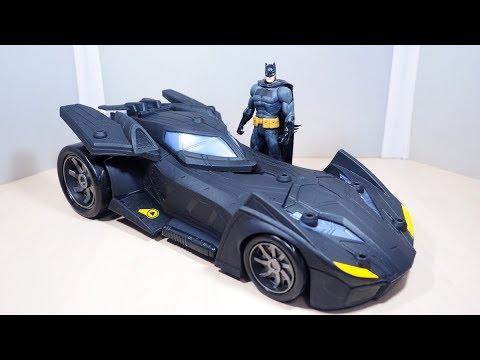 """Batman Missions /& Missile Launcher Batmobile Vehicle Mattel DC 12/"""" Batman Figure"""