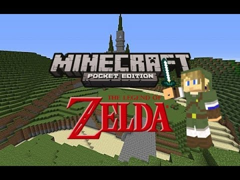 The Legend of Zelda In Minecraft Pocket Edition! - YouTube
