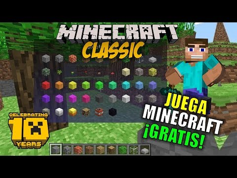 ¡JUEGA MINECRAFT GRATIS EN FIREFOX O GOOGLE CROME! MINECRAFT CLASSIC GAMEPLAY