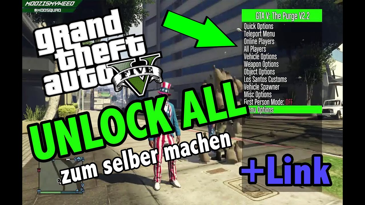 GTA 5 Unlock all for FREE (NO JAILBREAK) ★ Zum selber machen ★ │ Mod Menu  Download für PS3/4