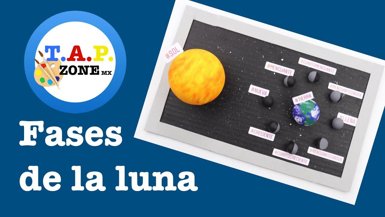 Como hacer la maqueta de las fases de la luna (DIY) - TAP ZONE Mx ...