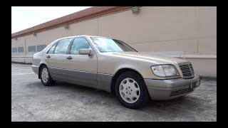 1995 Mercedes-Benz S 320 Start-Up and Full Vehicle Tour