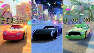 Cars 3: Driven to Win Lightning McQueen, Jackson Storm, Chick Hicks Gameplay Compilation HD