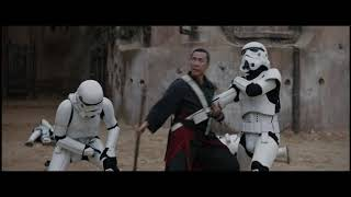 Chirrut contra stormtroopers