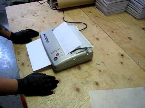 Tattoo stencil printer copier from hildbrandt the for Tattoo stencil copier