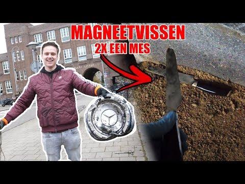 GROOT MES GEVONDEN MET MAGNEETVISSEN IN AMSTERDAM