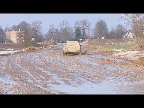 Jēkabpils novada iedzīvotāji neapmierināti ar valsts ceļu slikto stāvokli