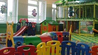 Влог Развлекательный детский центр с горками и батутами бассейном с шариками