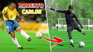 كيف تسدد الكورة مثل روبيرتو كارلوس! | اقوى اسلوب تسديد بالتاريخ🔥