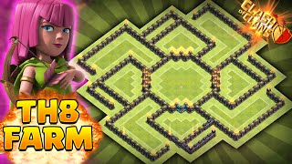 Clash of Clans - AIR SWEEPER BEST TOWNHALL 8 (TH8) FARMING BASE!