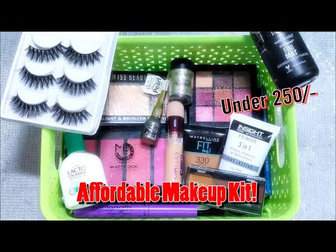BEGINNERS MAKEUP KIT UNDER Rs. 250 | AFFORDABLE MAKEUP KIT FOR INDIAN / DARK SKIN TONE thumbnail