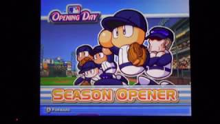 MLB Power Pros 2007: Game 1: Season mode