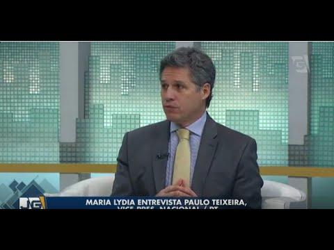 Maria Lydia entrevista Paulo Teixeira, vice pres.  nacional/PT