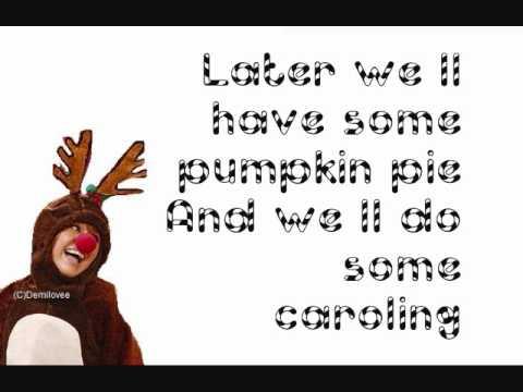 Rockin' Around The Christmas Tree- Hannah Montana (With Lyrics) - YouTube