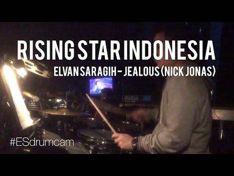 Echa Soemantri - Grand Final Rising Star Indonesia - Elvan Saragih - Jealous (Nick Jonas) #ESdrumcam