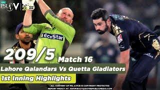 Lahore Qalandars Batting Lahore Qalandars Vs Quetta Gladiators 1st  Nning Match 16 HBL PSL 5