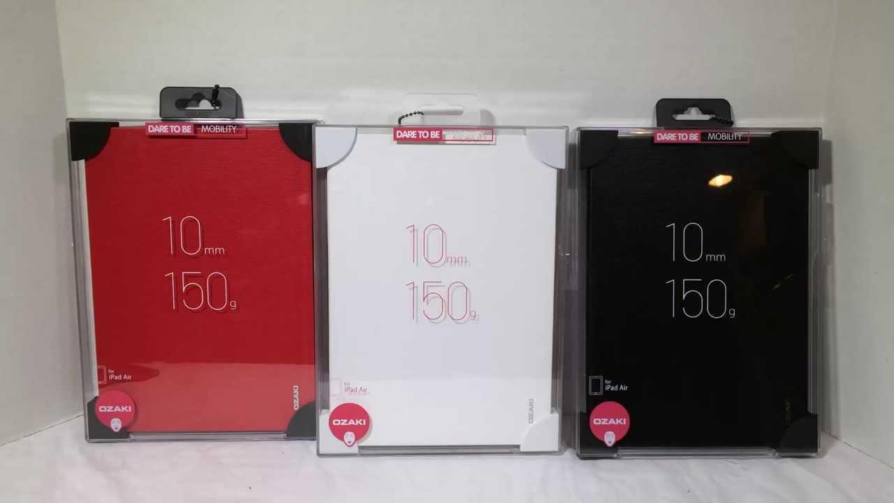 ozaki ipad air 2 cover  Ozaki O!coat Slim for iPad Air Unboxing And Review @Ozakiverse - YouTube