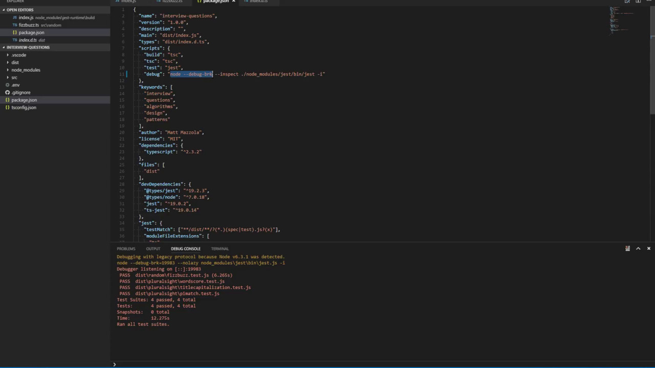 How to debug Jest tests with VSCode - Matt Mazzola - Medium