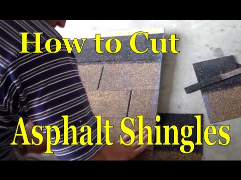 How To Cut Asphalt Roof Shingles Youtube