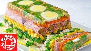 Праздничное ЗАЛИВНОЕ из курицы с овощами. Шикарная закуска на Праздничный стол! Рецепты на Новый Год