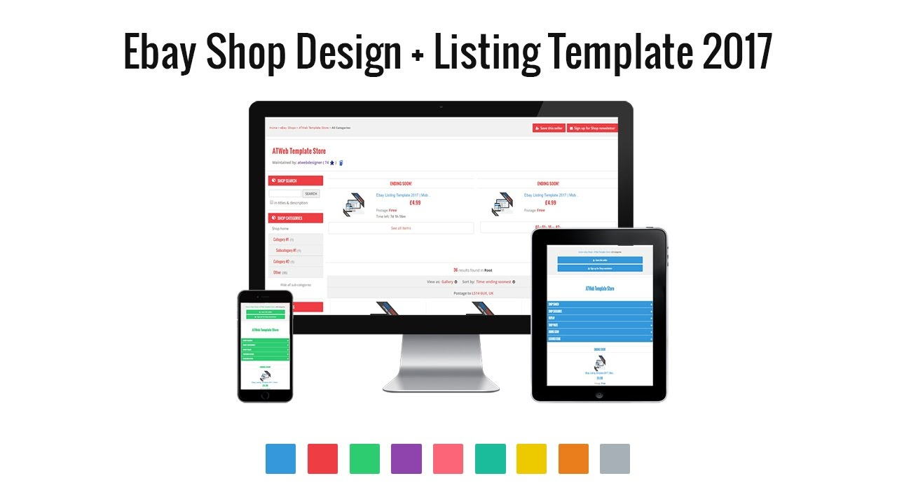 Ebay Shop Design Mobile Friendly No Active Content YouTube - Mobile friendly ebay template