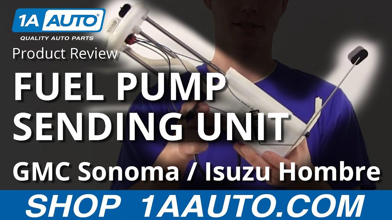 1afpu01150 chevy s10 gmc sonoma isuzu hombre fuel pump sending unit