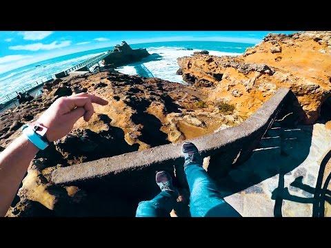 PARKOUR POV in France, Biarritz - Parkour & Exploring