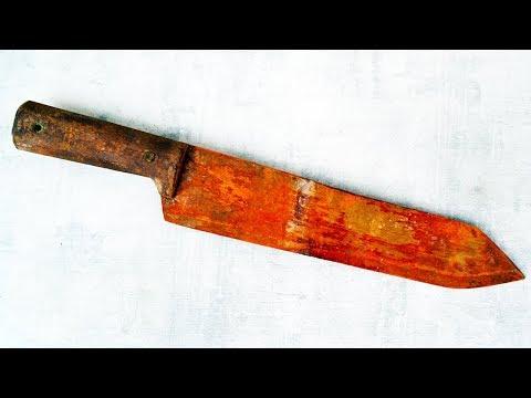 Old Rusty Seax Knife Restoration