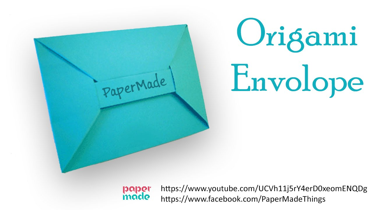 how to make an envelope origami diy papermade youtube