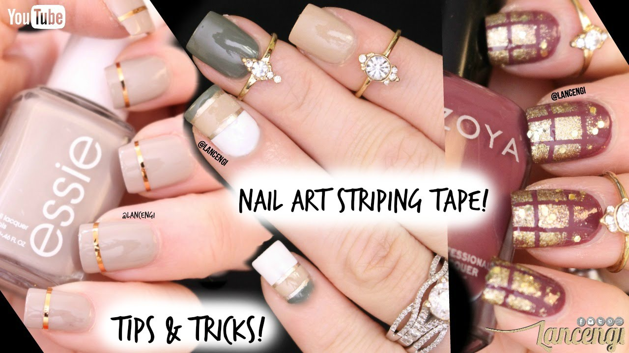 Tip & Tricks Nail Art Tape - DIY Cute & Easy Nail Art Designs for Beginners  #35 - YouTube - Tip & Tricks Nail Art Tape - DIY Cute & Easy Nail Art Designs For