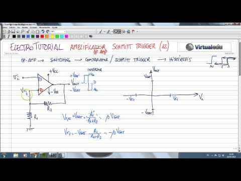ElectroTutorial 364 Amplificador (12) Schmitt Trigger