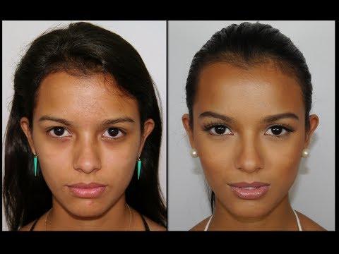 maquillaje natural para piel morena