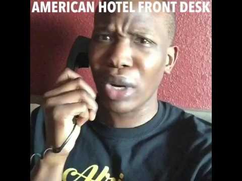 American hotel front desk vs African
