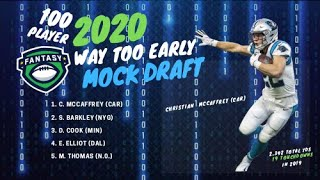 2020 Fantasy Football - Way Too Early Mock Draft (100 Player) - Pick by Pick Analysis