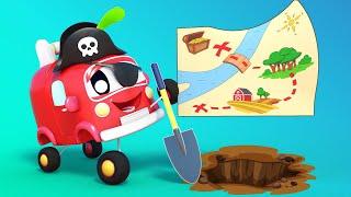 Малыши Машинки -  МАЛЫШИ в ПОИСКАХ СОКРОВИЩА - Обучающие мультфильмы Автомобильного Города