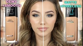 Maybelline Fit Me MATTE VS. DEWY for Oily Skin | 9 Hour Wear Test | Jazzi Filipek