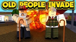 OLD PEOPLE INVADE BLOXBURG! (ROBLOX Bloxburg)