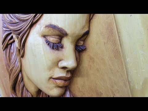 Woodcarving: Carving and Staining Female Face (Side View)