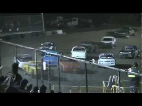 Texas Thunder Speedway IMCA Stock Car Heat and Feature 3/23/13