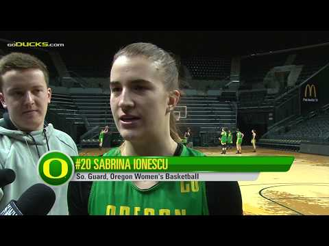 Sabrina Ionescu Ahead of Cal and Stanford