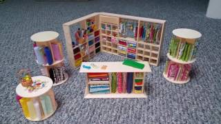 Miniature Sewing Store or Room Shelving