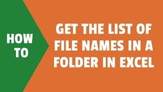 This Excel trick uses an old Excel Function FILES to get the list o...