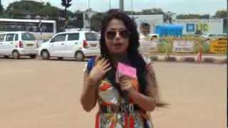Ruchika Davar anchors an outdoor feature for a leading bank