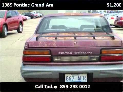 1989 pontiac grand am used cars lexington ky youtube. Black Bedroom Furniture Sets. Home Design Ideas