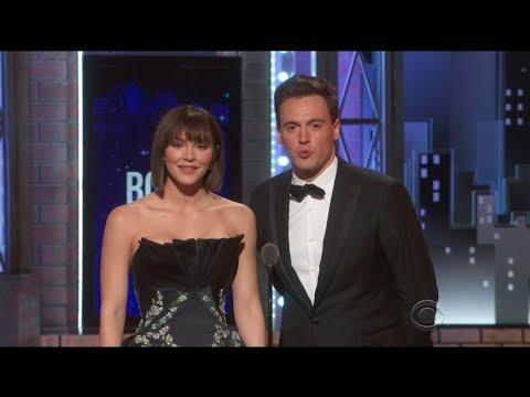 Katharine McPhee & Erich Bergen present at 2018 Tony Awards