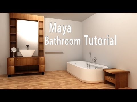 Maya Modeling Tutorial- Bathroom Part 12