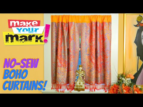 How To No Sew Boho Curtains